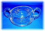 CUT GLASS SUGAR BOWL - STAR BURST - . . .