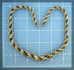 Click to view larger image of Necklace Gold Rope 1/20 Gold Fill Vintage  ....... (Image2)