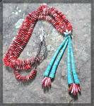 Necklace Ameruican Indian Turquoise Spiny Oyster BEGAY