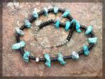 Click to view larger image of Necklace Santo Domingo  Black Jet Turquoise Coral (Image1)