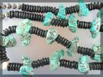 Click to view larger image of Necklace Santo Domingo  Black Jet Turquoise Coral (Image2)