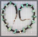 Click to view larger image of Necklace Santo Domingo  Black Jet Turquoise Coral (Image5)