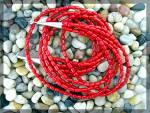 Native American Coral 5 Strand Necklace Sterling Silver