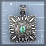 Click to view larger image of Native American Sterling Silver Turquoise Darryl Becent (Image1)