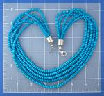 Click to view larger image of Necklace Turquoise Sleeping Beauty 5 Strand  Sterling S (Image4)
