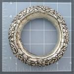 Click to view larger image of Bracelet Silver Flowers Leaves Bangle Handmade NEPAL (Image3)