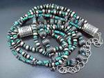 Click to view larger image of Native American Sterling Silver Turquoise Necklace (Image3)