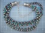 Click to view larger image of Native American Sterling Silver Turquoise Necklace (Image5)