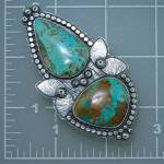Click to view larger image of Kingman Turquoise Sterling Silver Ring Martha Petrilla (Image3)