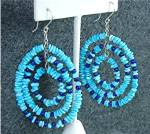 Click here to enlarge image and see more about item 12720171088: Navajo Turquoise Sterling Silver & Lapis Earrings