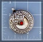 Click to view larger image of Silver Pendant Tibet Coral Shell Friendship Monkey (Image1)