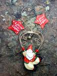 Santa Christmas ornament Listen for the Laughter