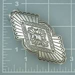 Click to view larger image of Navajo Sterling Silver Hair Barrette P. Yellowhorse (Image2)