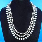 Click here to enlarge image and see more about item 2162018643: Navajo Pearls 3 Strands 138 Grams Necklace