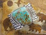 Click to view larger image of CADMAN Sterling Silver Kingman Turquoise Cuff (Image6)