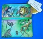 Click to view larger image of Anuschka Hand Painted Leather African Adventure Wallet  (Image3)