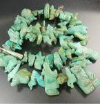 Click to view larger image of Fetish  Hand Carved Turquoise Stacey Turpen Necklace (Image6)