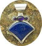 Click to view larger image of David Troutman & Gundi Lapis Amethyst Sterling Silver   (Image1)
