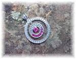 Click to view larger image of Pendant Pink Topaz Sterling Silver Circle By Peggy V (Image3)