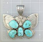 Click to view larger image of Native American Carico Lake D Livingston Turquoise (Image2)