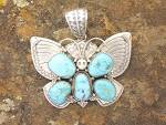 Click to view larger image of Native American Carico Lake D Livingston Turquoise (Image5)