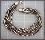 Native American 10 Strand Sterling Silver Beads
