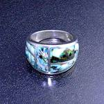 Opals Inlay Sterling Silver Onyx GL Designer USA