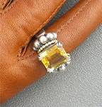 Click to view larger image of Ring 18K Gold Sterling Silver LAGOS CAVIAR Citrine (Image2)