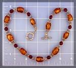 Click to view larger image of Necklace Amber Sterling Silver Beads (Image1)