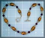 Click to view larger image of Necklace Amber Sterling Silver Beads (Image2)