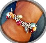 Click to view larger image of Bracelet Sterling Silver Pearl Citrine Crystal Toggle C (Image2)