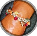 Click to view larger image of Bracelet Sterling Silver Pearl Citrine Crystal Toggle C (Image3)