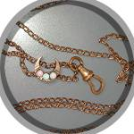 Gold Fill 50 Inch Watch Chain Opal Moon Slide