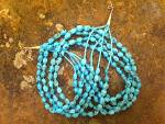 Click to view larger image of Necklace Kingman Turquoise 4 Strand Sterling Silver  (Image1)