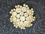 Crystal Silver Rhodium Set Cluster Brooch