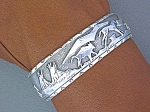 Click to view larger image of Native American CROW Legacy Sterling Silver Cuff (Image1)