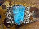 Click to view larger image of Native Americn  Darrel Cadman  Sterling Silver Turquois (Image2)