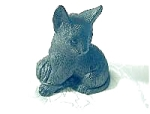 Click here to enlarge image and see more about item 352004d: Cat Ornament English Made From Coal