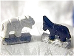 Click here to enlarge image and see more about item 352004r: Nostalgic  Pair Tricky Magnetic Rep  GOP/DEM