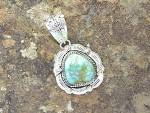 Click to view larger image of Carico Lake Turquoise Sterling Silver L. Juan Pendant (Image5)