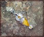 Click to view larger image of Pendant Citrine Mookeite Amethyst Sterling Silver (Image4)