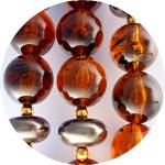 Click to view larger image of Necklace Amber Lucite Beads 28 Inch (Image3)