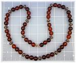 Click to view larger image of Necklace Amber Lucite Beads 28 Inch (Image5)