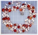 Click to view larger image of Necklace Crystasl Biwa  and Freshwater Pearl Carnelian (Image1)