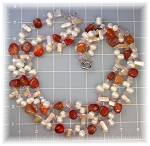 Click to view larger image of Necklace Crystasl Biwa  and Freshwater Pearl Carnelian (Image3)