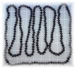 Click to view larger image of Necklace Black Faceted Crystal 80 Inch Hand Knotted (Image4)