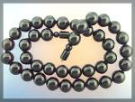 Necklace Black Coral Beads Hand Knotted