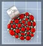 ROCKI GORMAN Sterling Silver Coral Heart Pendant