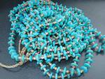 Click to view larger image of Native American Turquoise Heishi 6 Strands Necklace (Image2)