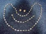 Click to view larger image of Swarovski Crystal Necklace Bracelet & Earrings (Image2)